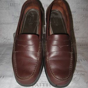 MENS EASTLAND CHOCOLATE BROWN PENNY LOAFERS 10 M